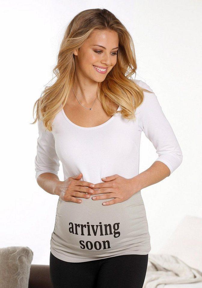 Neun Monate Bauchband Maternity Belly Belt in hellgrau
