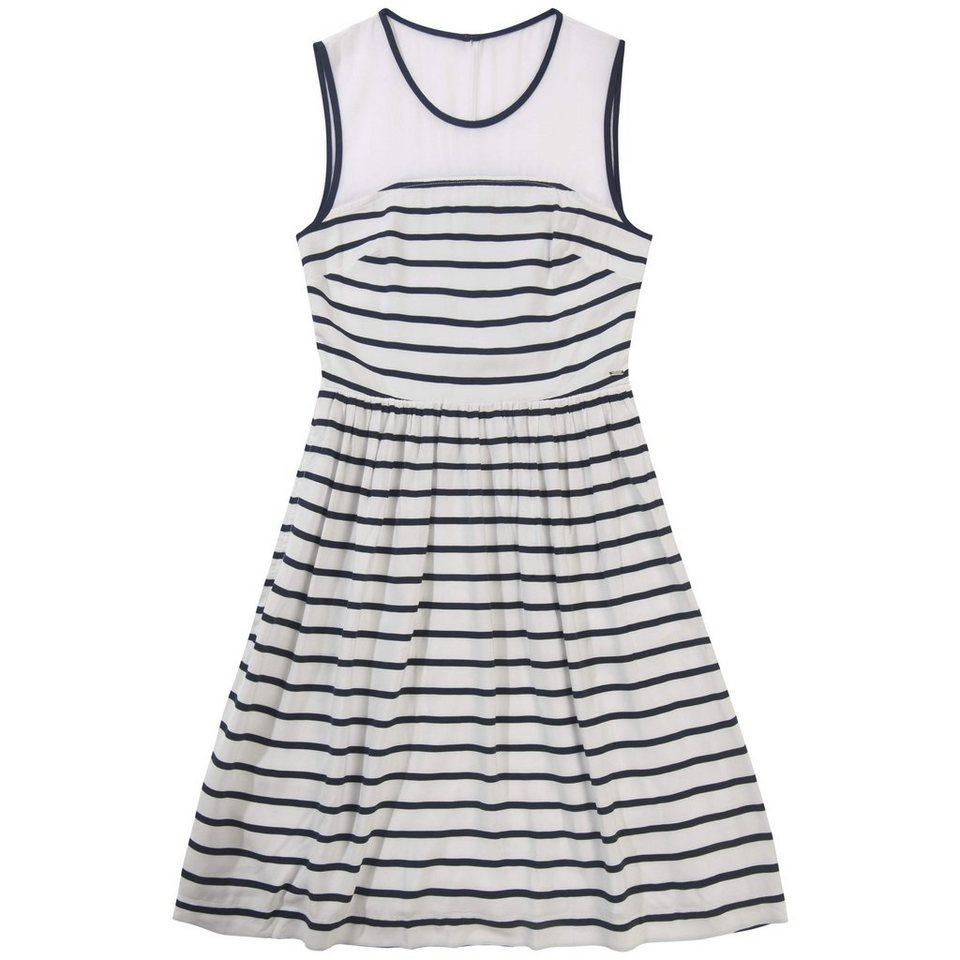 Hilfiger Denim Kleider »Fixed waist dress slvless 3« in WHITE / navy