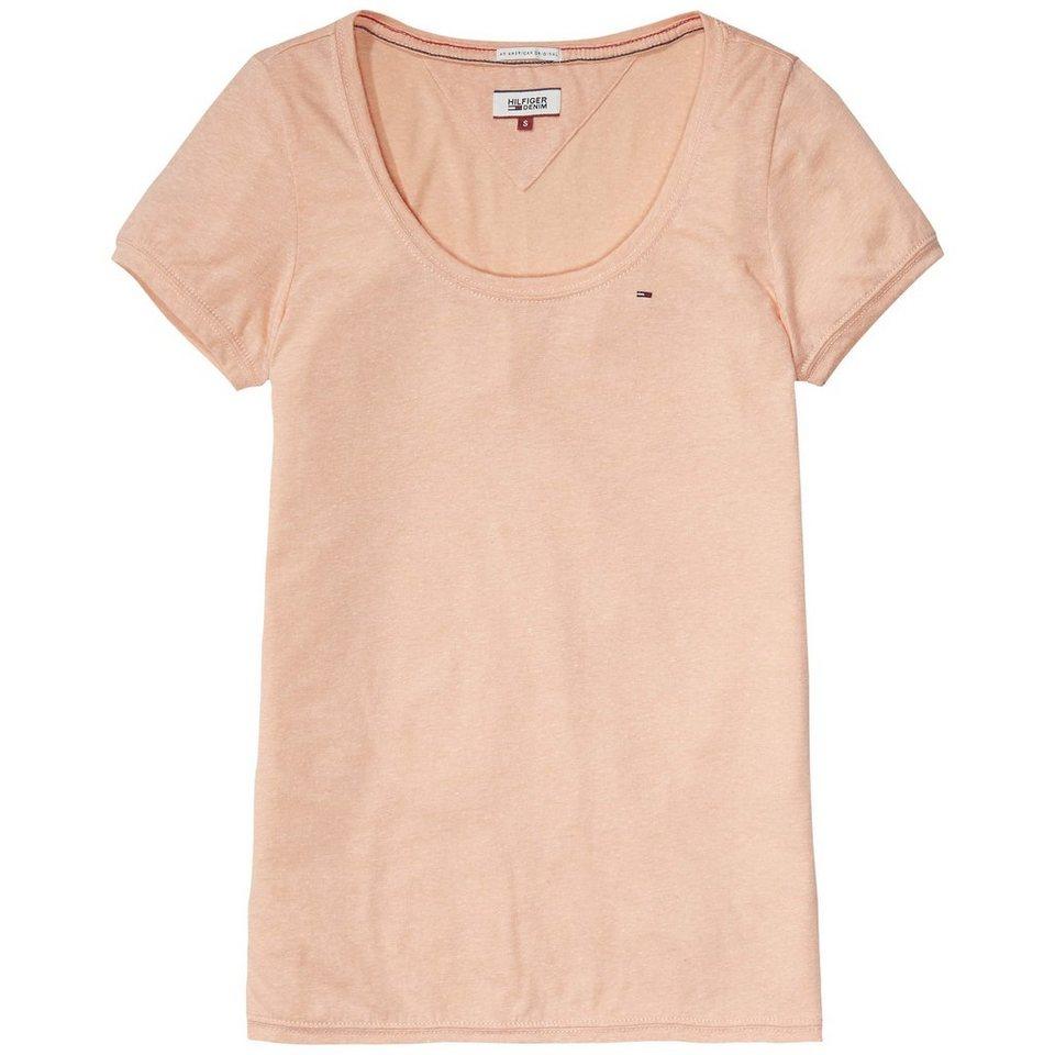 Hilfiger Denim T-Shirts (mit Arm) »Basic melange sn knit s/s 03« in SALMON