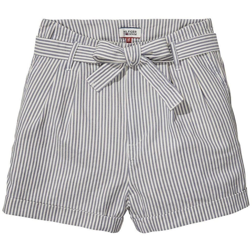 Hilfiger Denim Hosen kurz »Highwaist belt short FORS« in FOWLEY RAILROAD STRIPE
