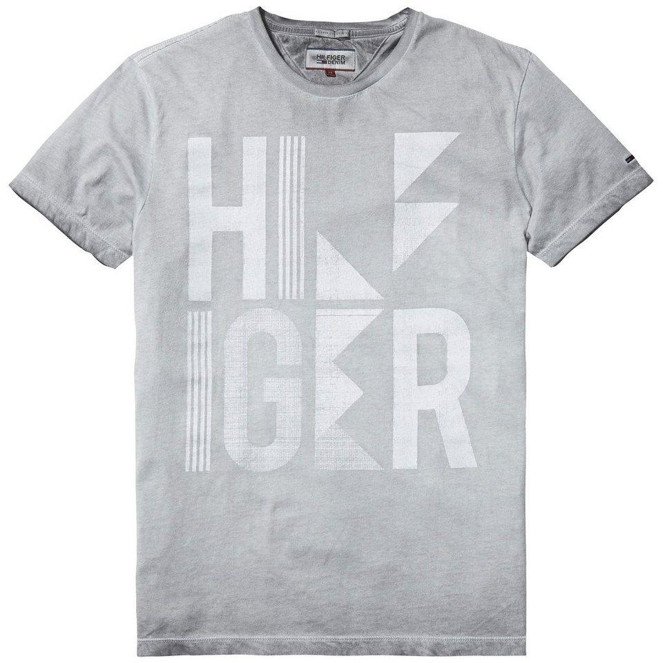 Hilfiger Denim T-Shirts (kurzarm) »Rev cold dye cn tee s/s 2« in WASHED GREY