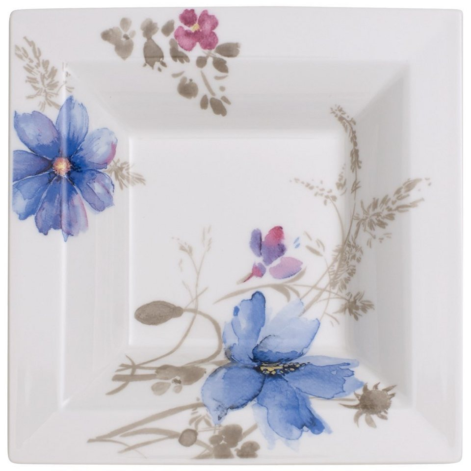 VILLEROY & BOCH Schale Quadrat 14x14cm »Mariefleur Gris Gifts« in Dekoriert