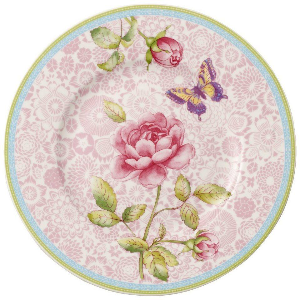 VILLEROY & BOCH Frühstücksteller - pink 22cm »Rose Cottage« in Dekoriert