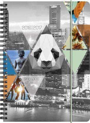 Buch mit Kunststoff-Einband »Schülerkalender A5 PP Town 2016/2017«