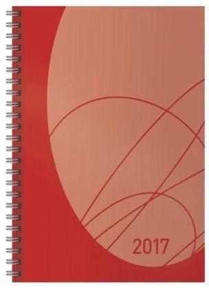 Kalender »Wochentimer Flexi Colourlux rot 2017«