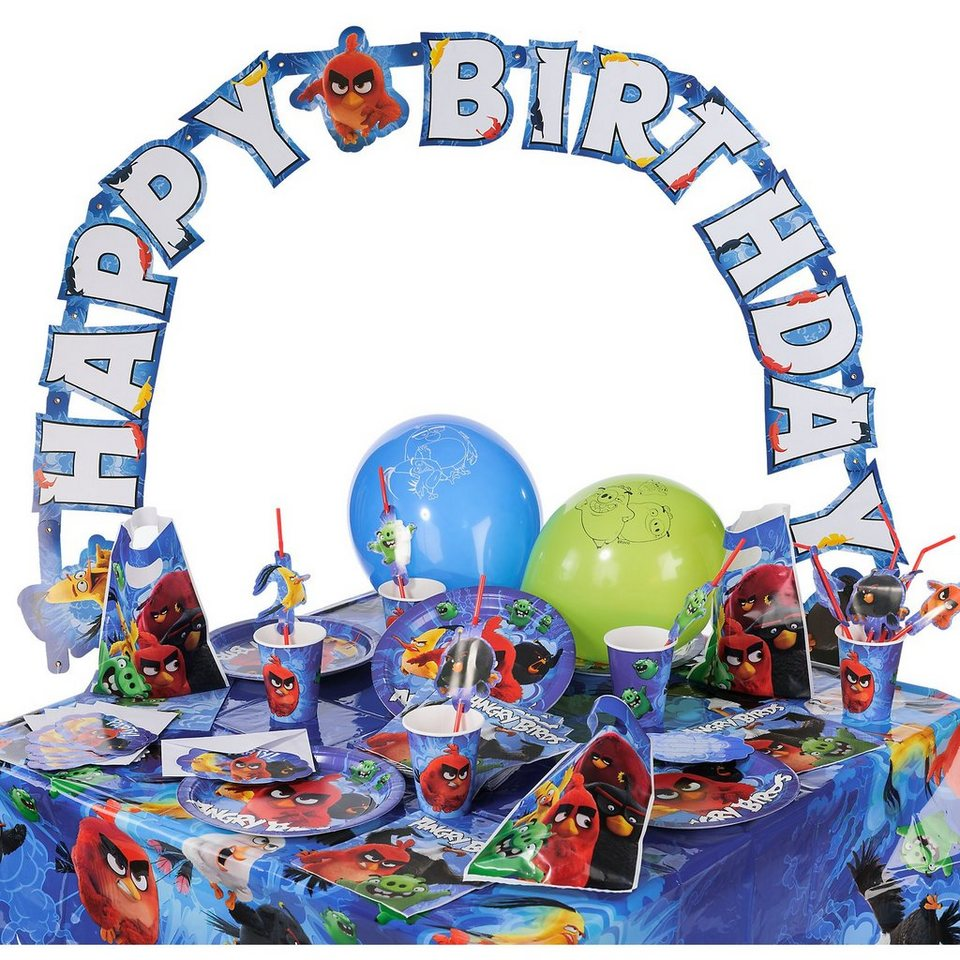 Amscan Partyset Angry Birds Movie, 68-tlg.