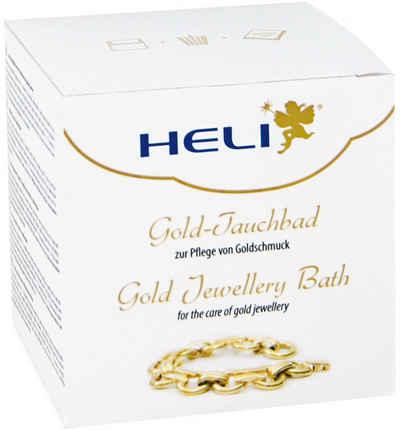 HELI »Gold-Tauchbad, 141278« Schmuckreiniger (enthält ein Tauchsieb sowie zusätzlich ein Mikrofaserpflegetuch)