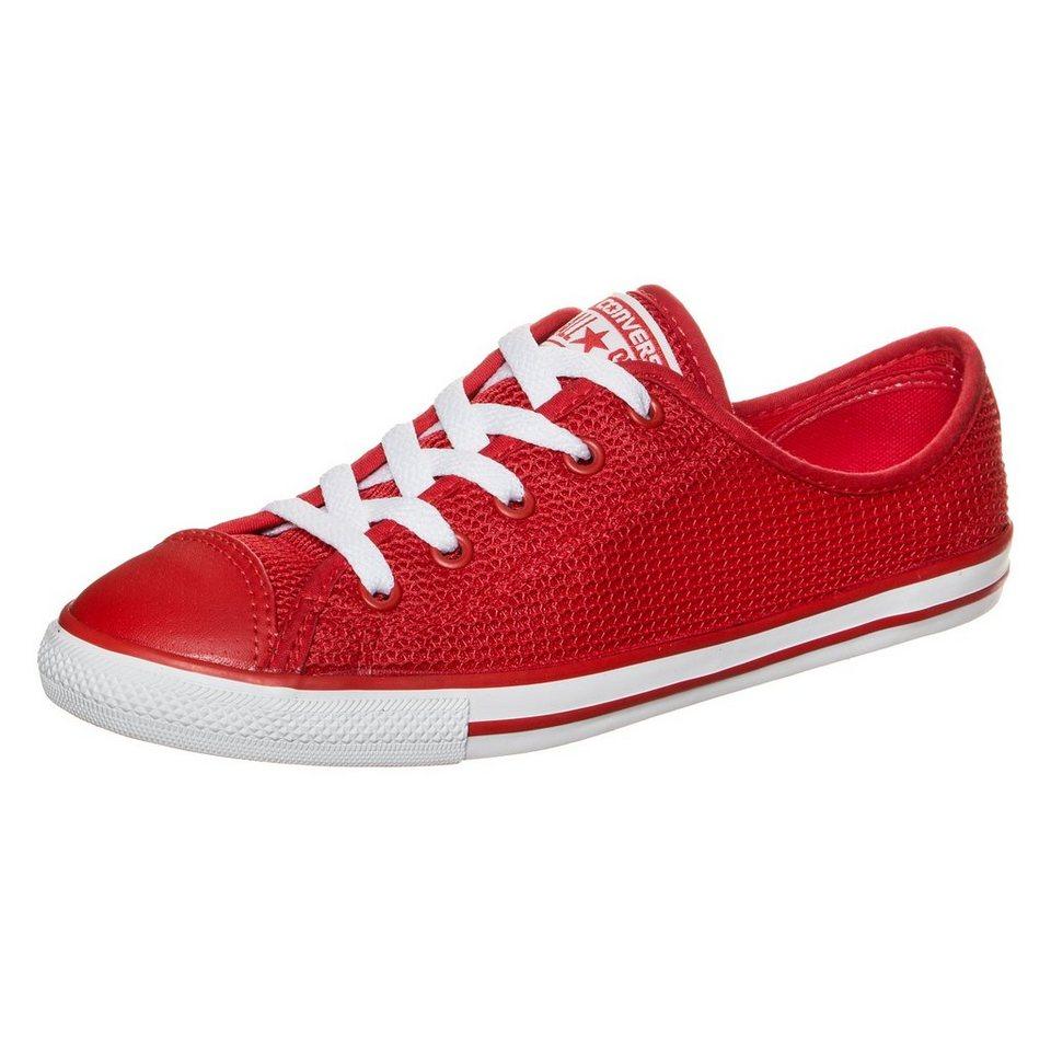 CONVERSE Chuck Taylor All Star Dainty OX Sneaker Damen in rot / weiß