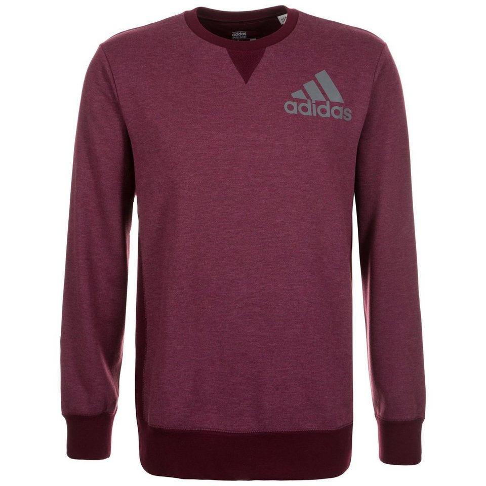 adidas Performance Prime Crew Trainingssweat Herren in bordeaux