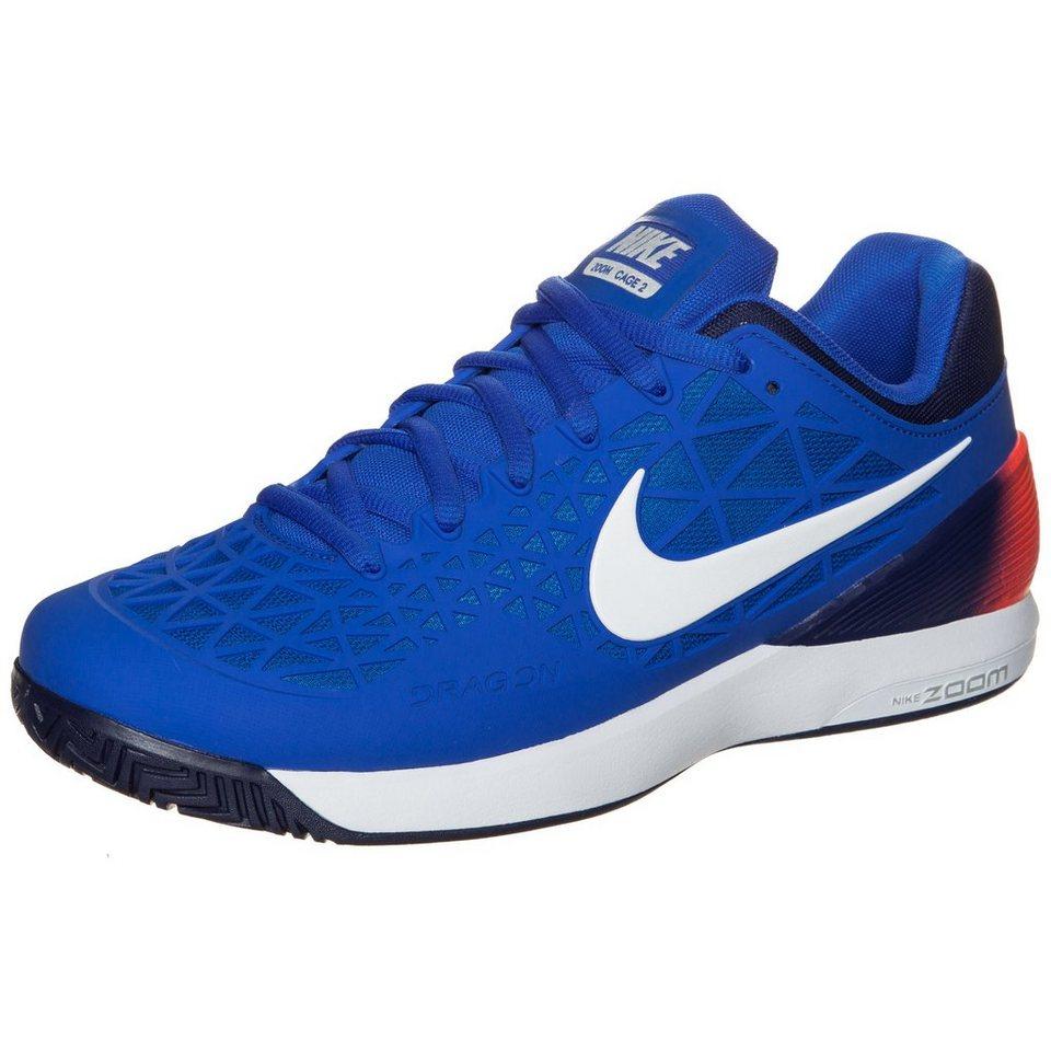 NIKE Zoom Cage 2 Tennisschuh Herren in blau / neonrot