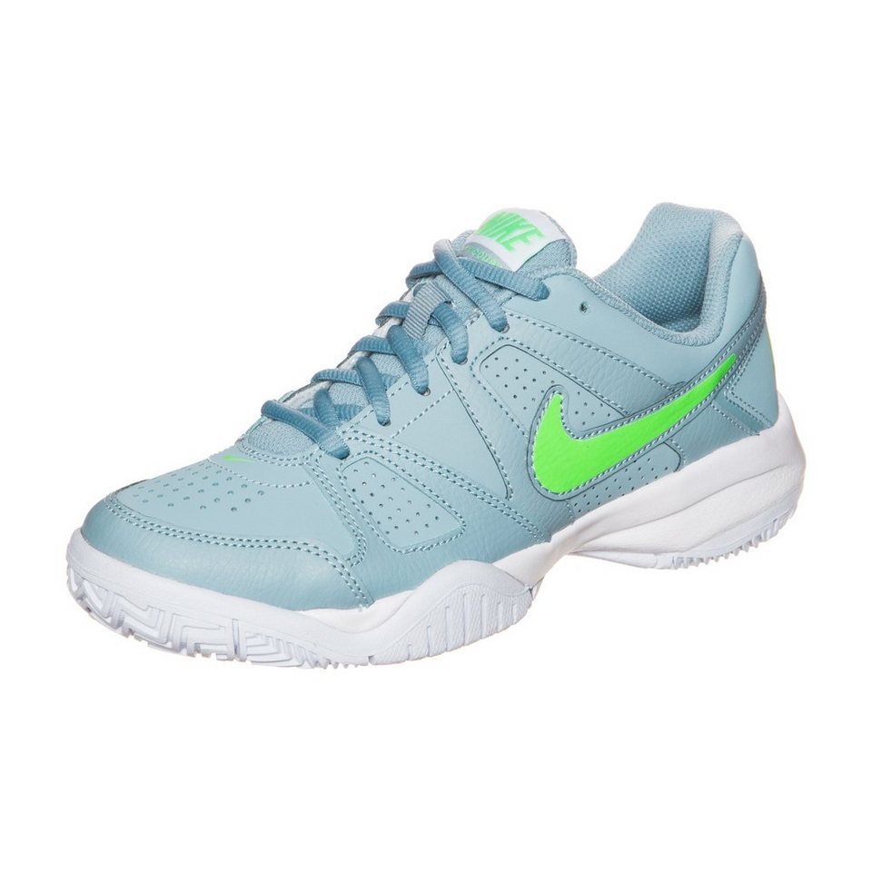 NIKE City Court 7 Tennisschuh Kinder in grau / grün / weiß