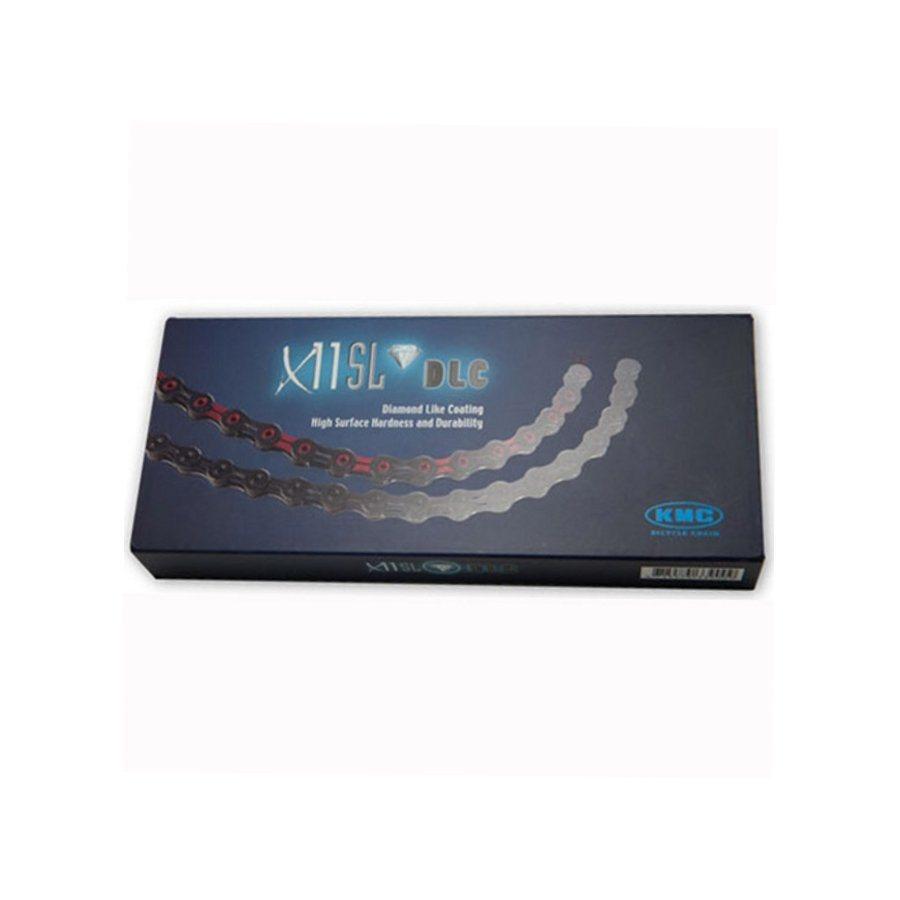 KMC Ketten »X-10 SL DLC Kette 10-fach schwarz/rot«