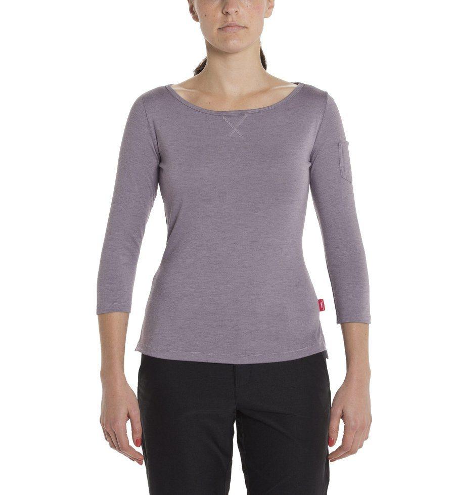 JENSEN WOMEN elegantes 3//4 Arm V-Ausschnitt T-Shirt Viskose weiß NEU