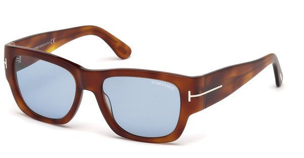 Tom Ford Herren Sonnenbrille » FT0493« in 53V - havana/blau