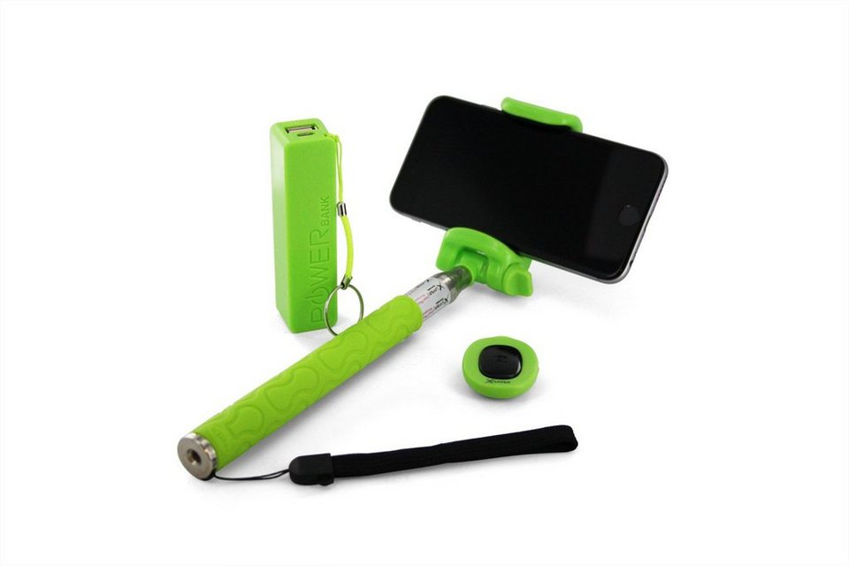 XLayer XLayer »plus Powerbank 2600mAh/Bluetooth Auslöser Green« in grün