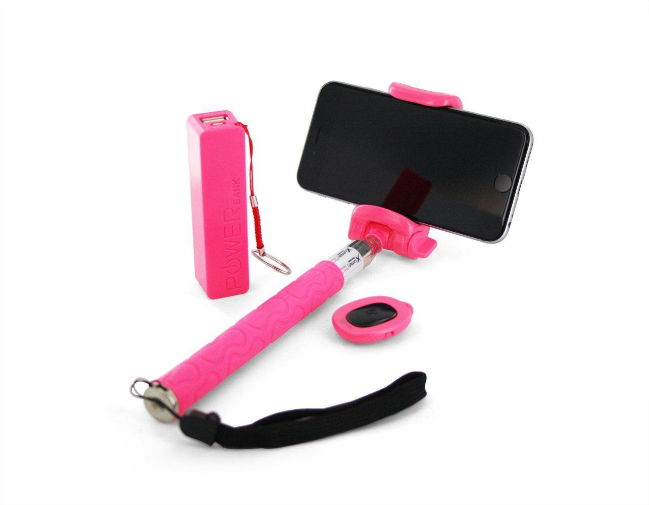 XLayer XLayer »plus Powerbank 2600mAh/Bluetooth Auslöser Pink«