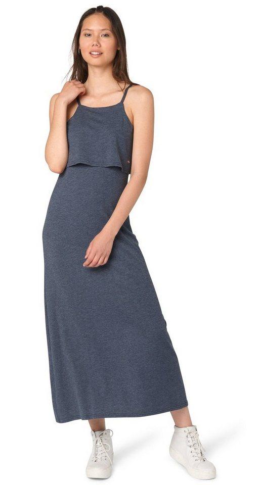 TOM TAILOR DENIM Kleid »maxi jersey dress« in total eclipse blue