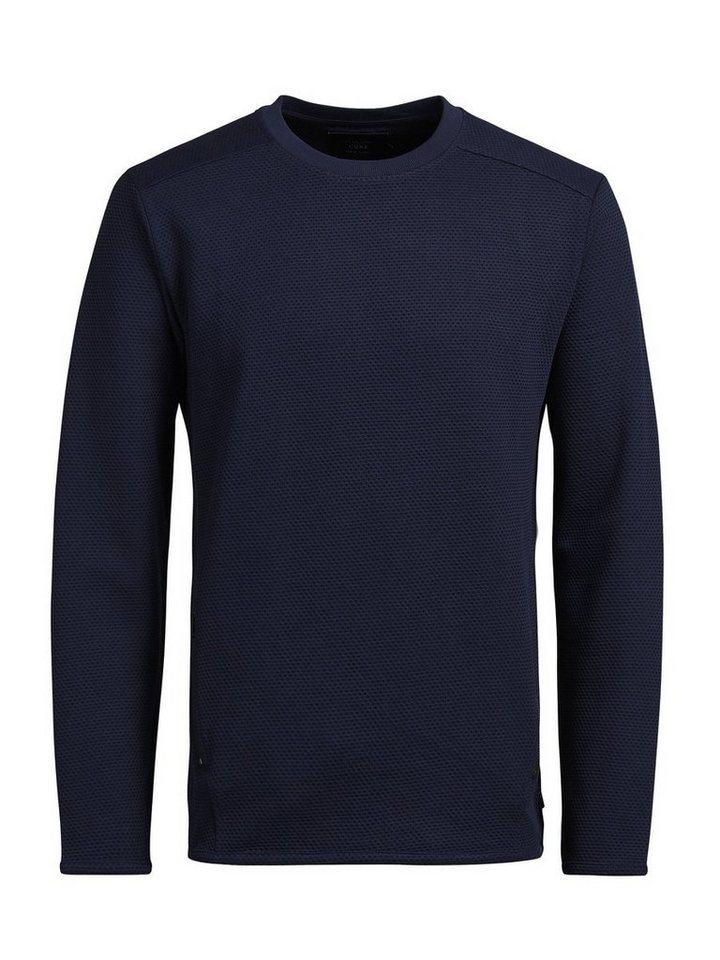 Jack & Jones Strukturiertes Sweatshirt in Navy Blazer