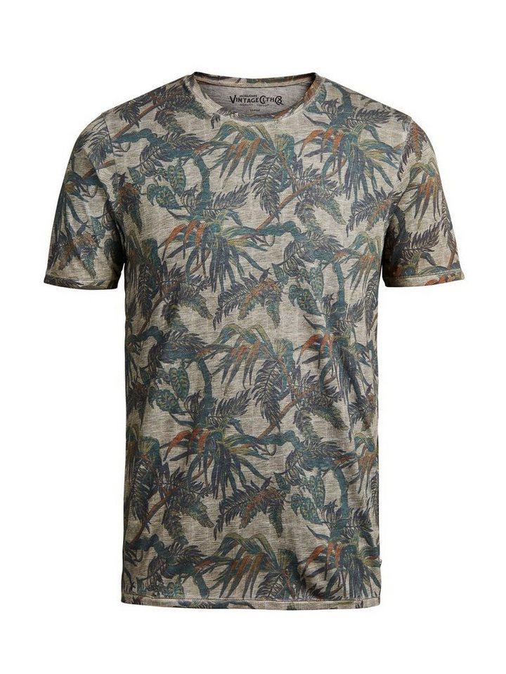 Jack & Jones Blumiges Burnout-Waschung- T-Shirt in Laurel Oak