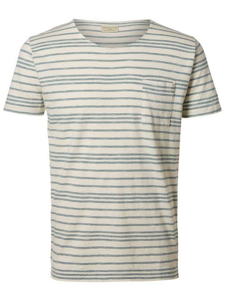 Selected Rundausschnitt- T-Shirt in Sea Pine