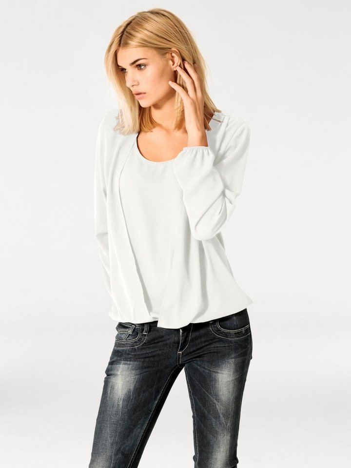 Bluse in offwhite