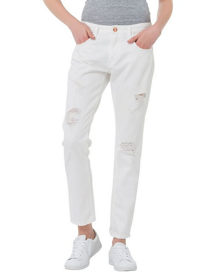 CROSS Jeans ® Girlfriends Jeans »Gwen« in white destroyed