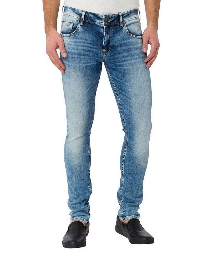 CROSS Jeans ® Skinny Jeans mit Reißverschluss »Toby« in blue used shadow light us