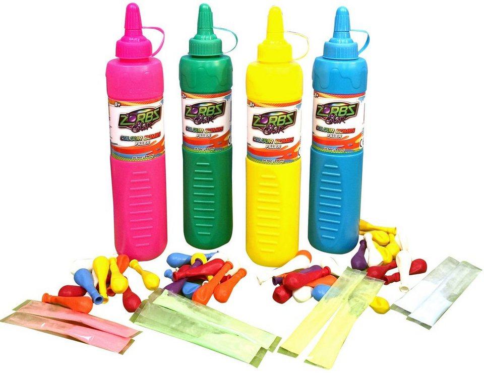 Zorbz Color, Füllflasche mit Wasserbomben und Farben, »Colour Bombs Filler«