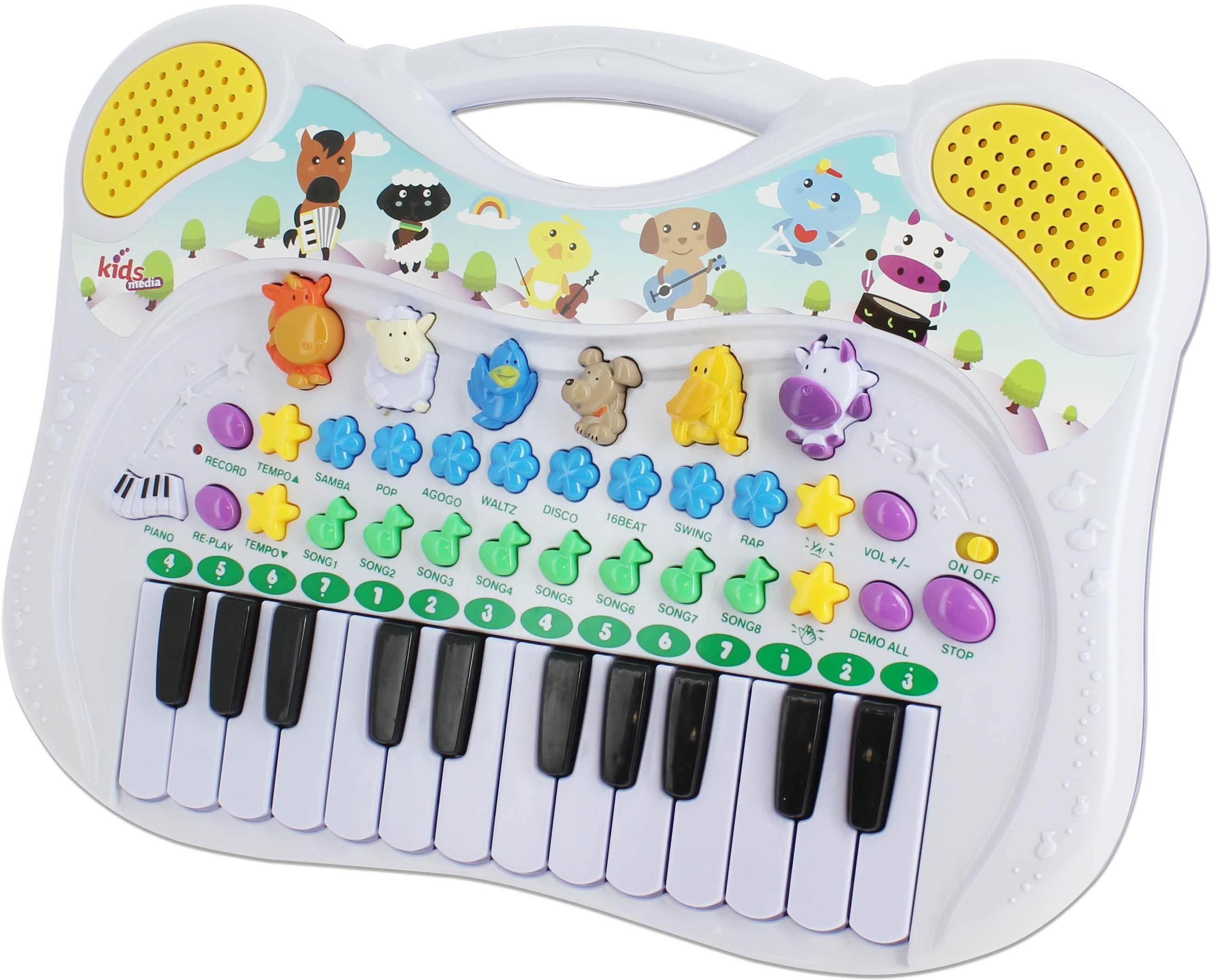 kids media, Kinder Musikinstrument mit Aufnahmefunktion , »Animal Piano das lustige Tierklavier«