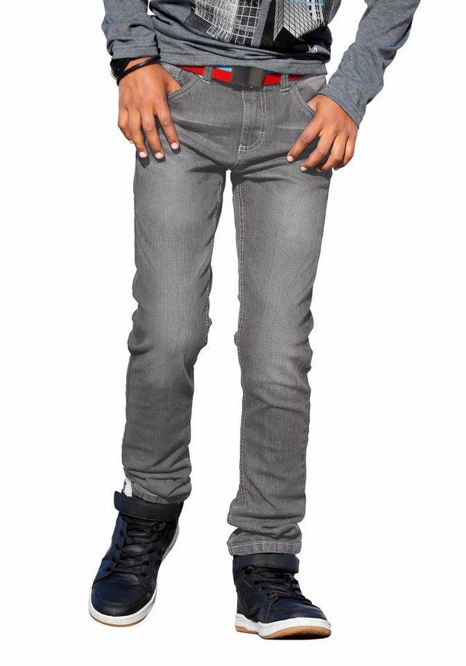 Arizona Stretch-Jeans in SLIM-Passform für schlanke Jungen in grey-denim