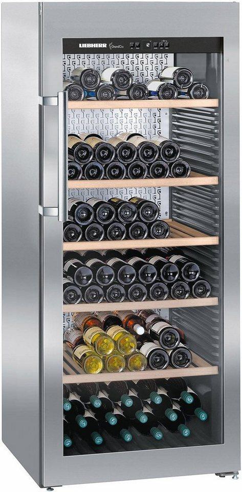 Liebherr Weinkühlschrank WKes 4552-21, A+, 165 cm hoch in edelstahl