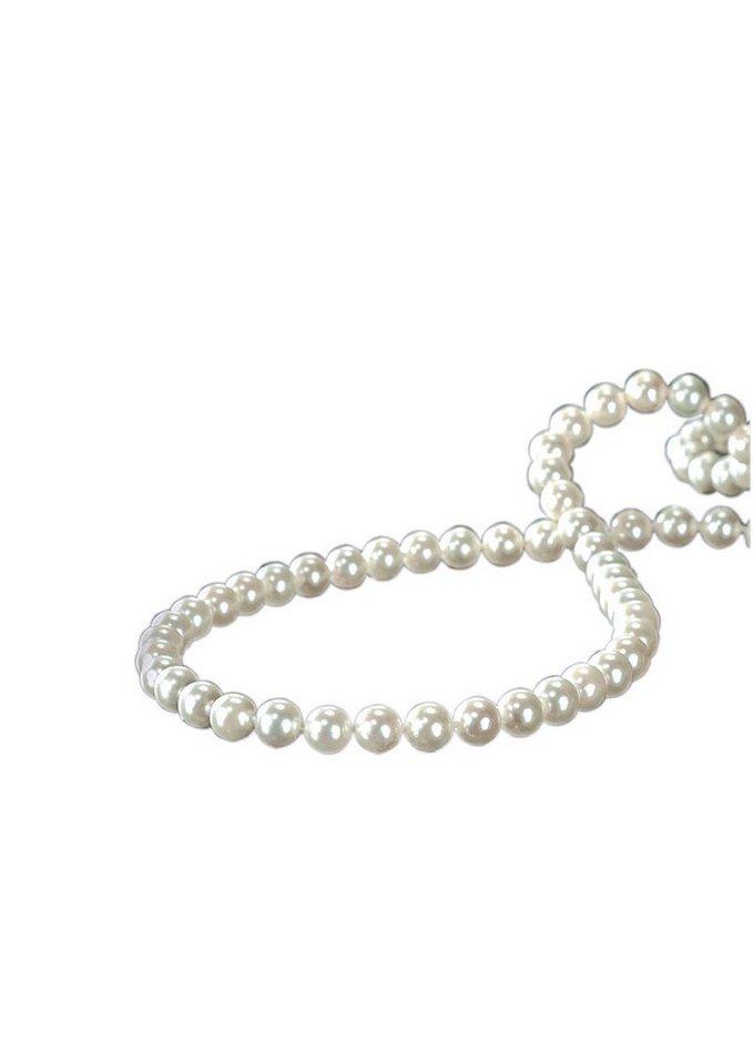 Vivance Jewels Halsschmuck: Halskette / Collier mit Akoyazuchtperlen und Zierschließe in Kugelform in Gold 585