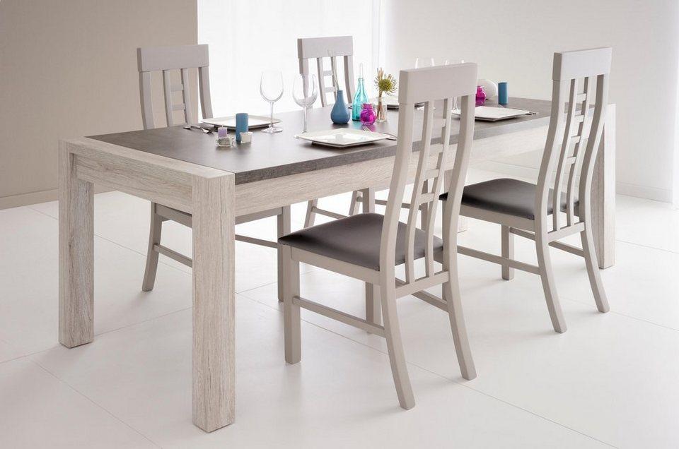 Parisot Stühle »Malone« (2 Stck.) in grau mit Holzstruktur
