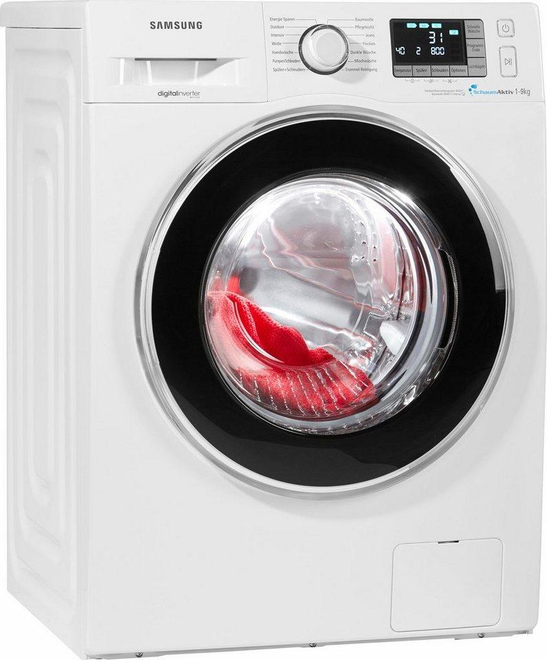 Samsung Waschmaschine WF90F5EBP4W/EG, A+++, 9 kg, 1400 U/Min