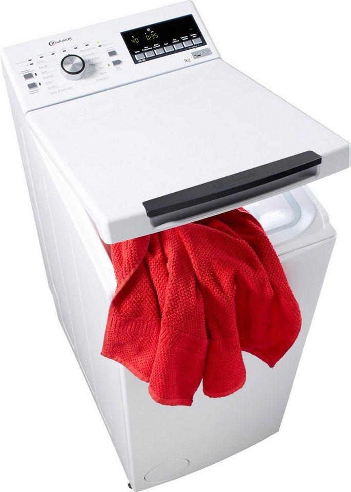 BAUKNECHT Waschmaschine Toplader WMT STYLE 722 ZEN, A+++, 7 kg, 1200 U/Min in weiß