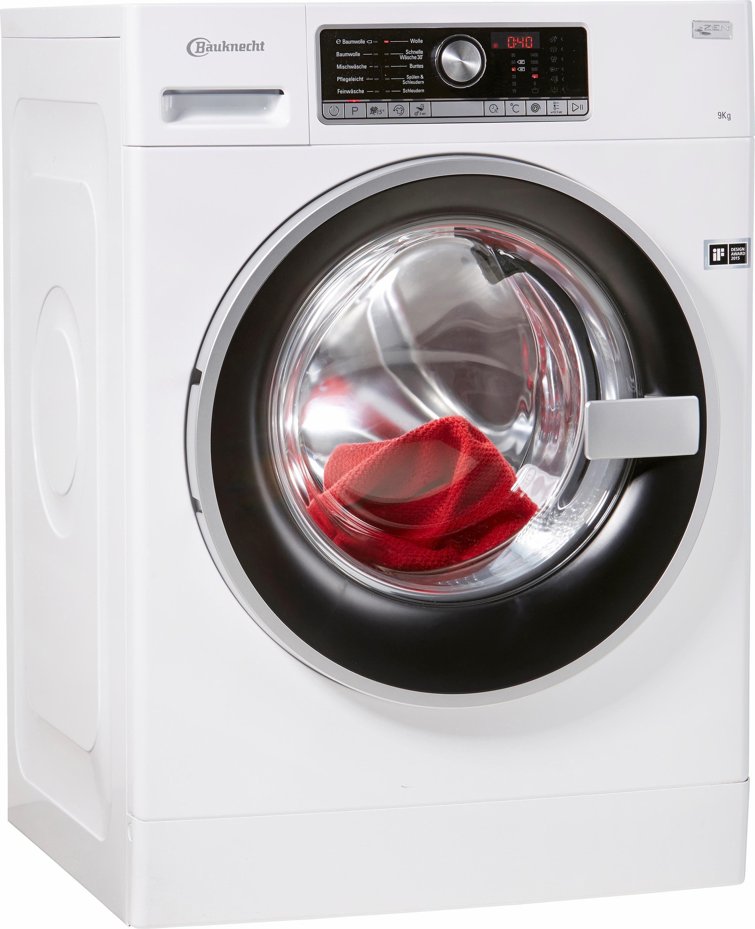 BAUKNECHT Waschmaschine WM Trend 914 ZEN, A+++, 9 kg, 1400 U/Min