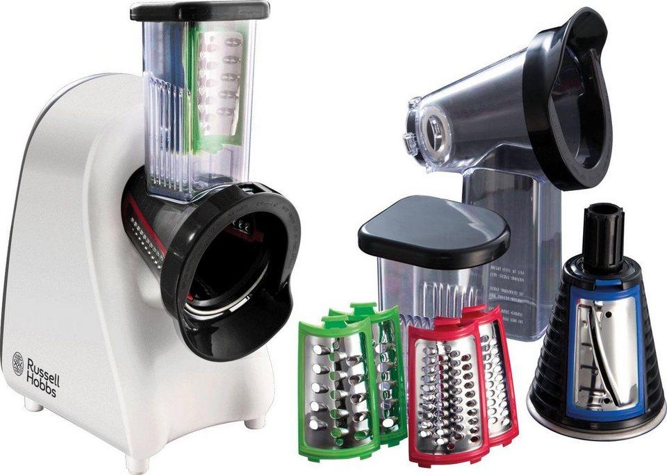 Russell Hobbs Elektrisches Schnitzelwerk Aura 22281-56, mit zusätzlichem Sorbetaufsatz in weiß-schwarz