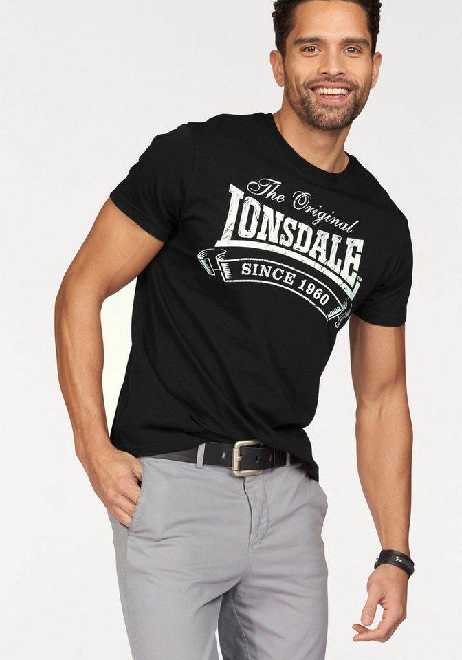 Lonsdale T-Shirt in schwarz