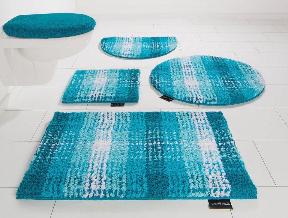 Badematte, Bruno Banani, »Kyros«, Microfaser, Höhe 25 mm, rutschhemmender Rücken in aqua