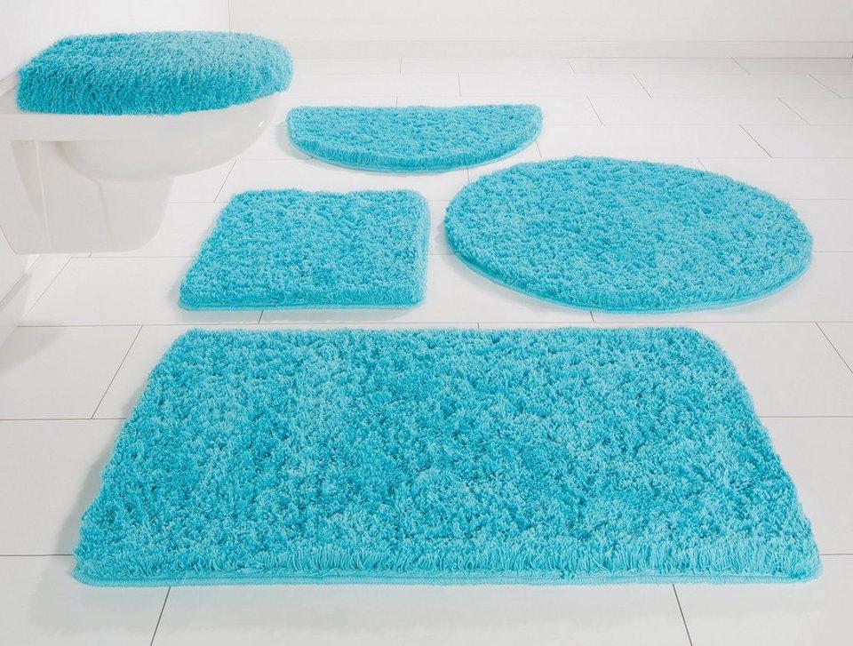 badematten set 4 teilig diossad teilig badematte set blau mikrofaser flanell rutschfest. Black Bedroom Furniture Sets. Home Design Ideas