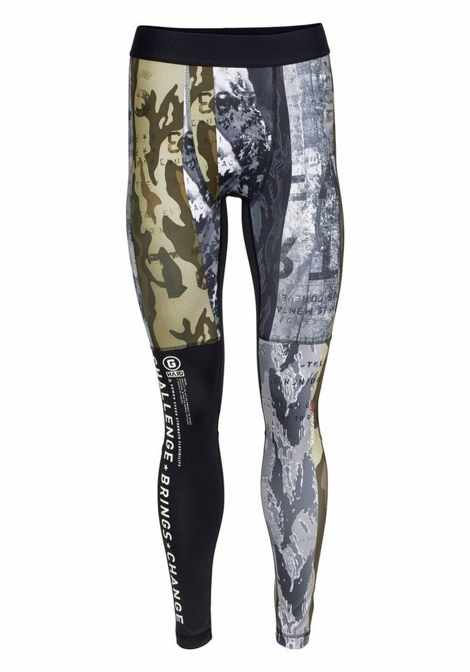 Reebok Funktionstights »One Series Winter Camo Compression Tights« in schwarz-tarnfarben