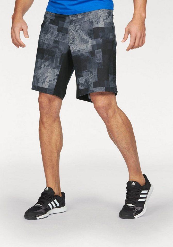 adidas Performance Shorts »ASS 2 GRASS GRAPHIC« in schwarz-gemustert