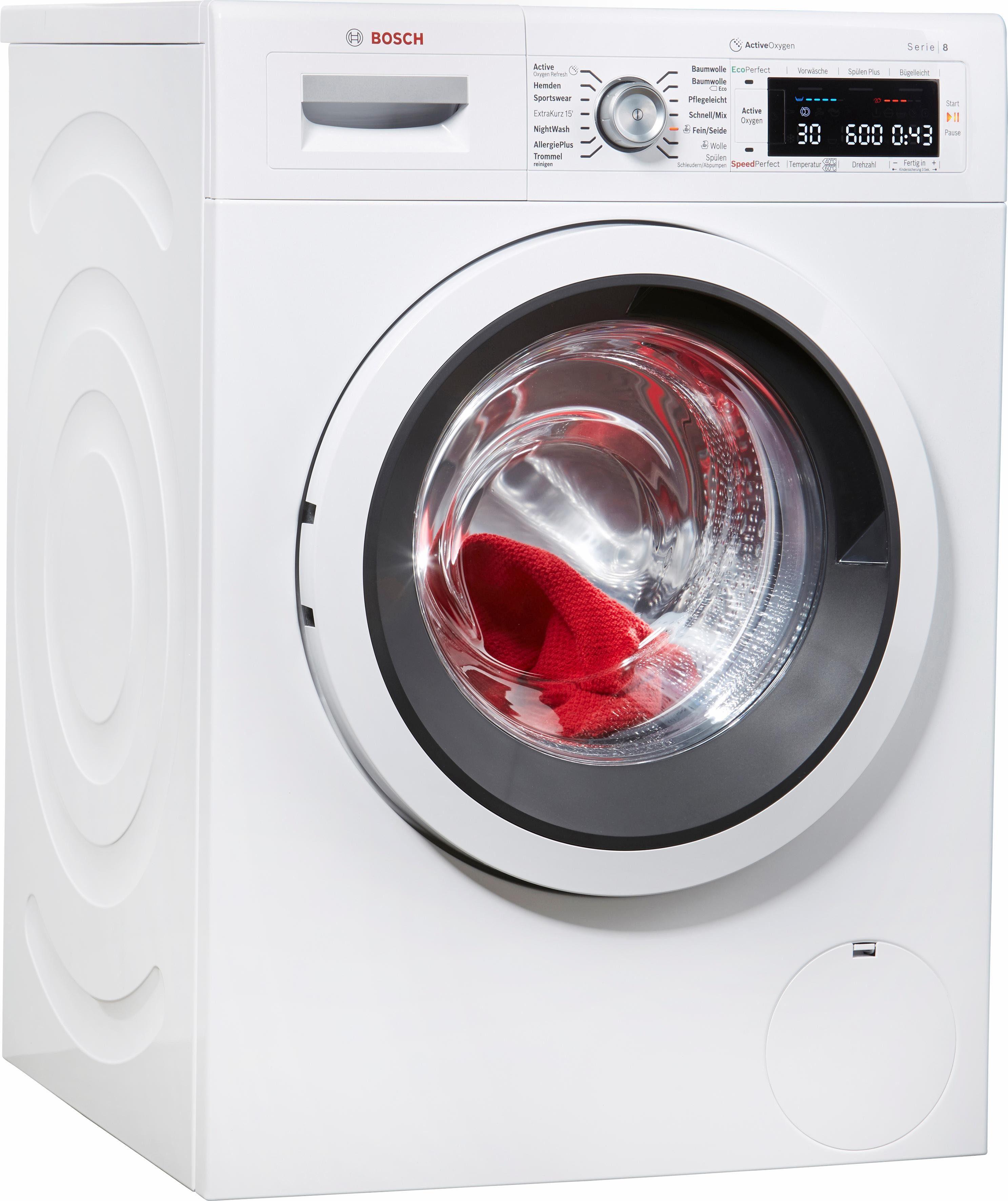 BOSCH Waschmaschine 8 WAW287V0, 9 kg, 1400 U/Min