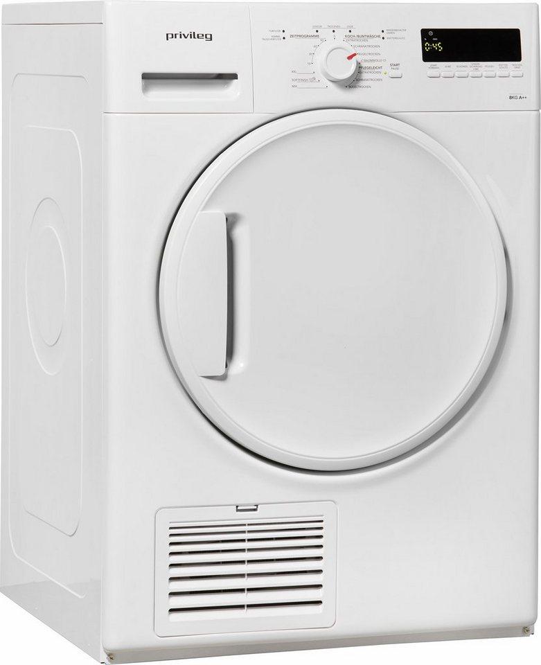 Privileg Trockner PWC 82 A++ Edition 50, A++, 8 kg in weiß