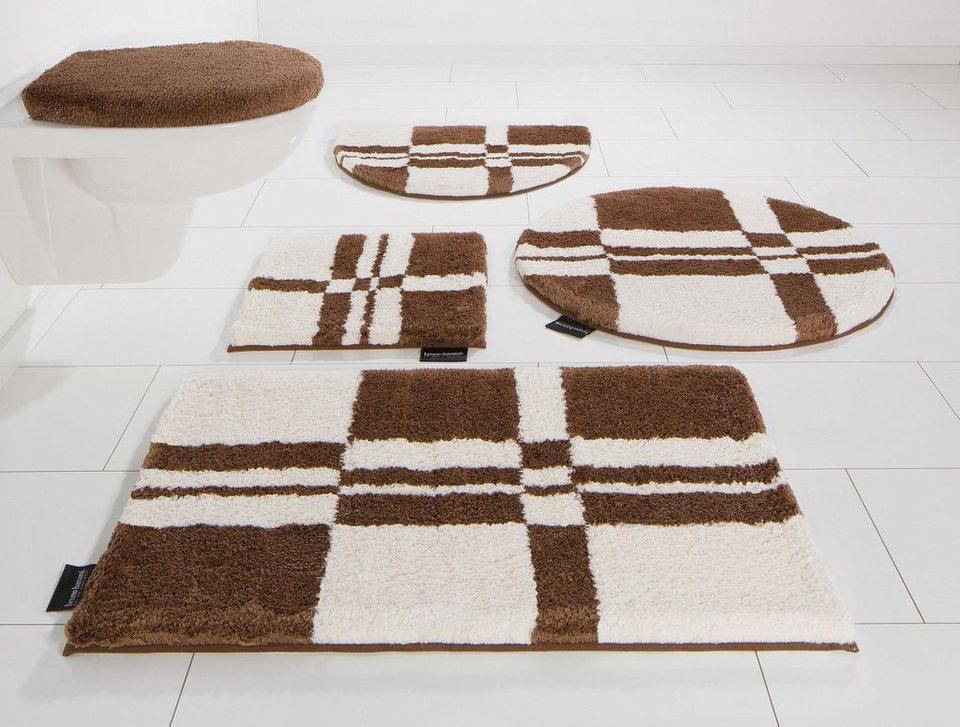 Badematte, Bruno Banani, »Calum«, Microfaser, Höhe 25 mm, rutschhemmender Rücken in braun