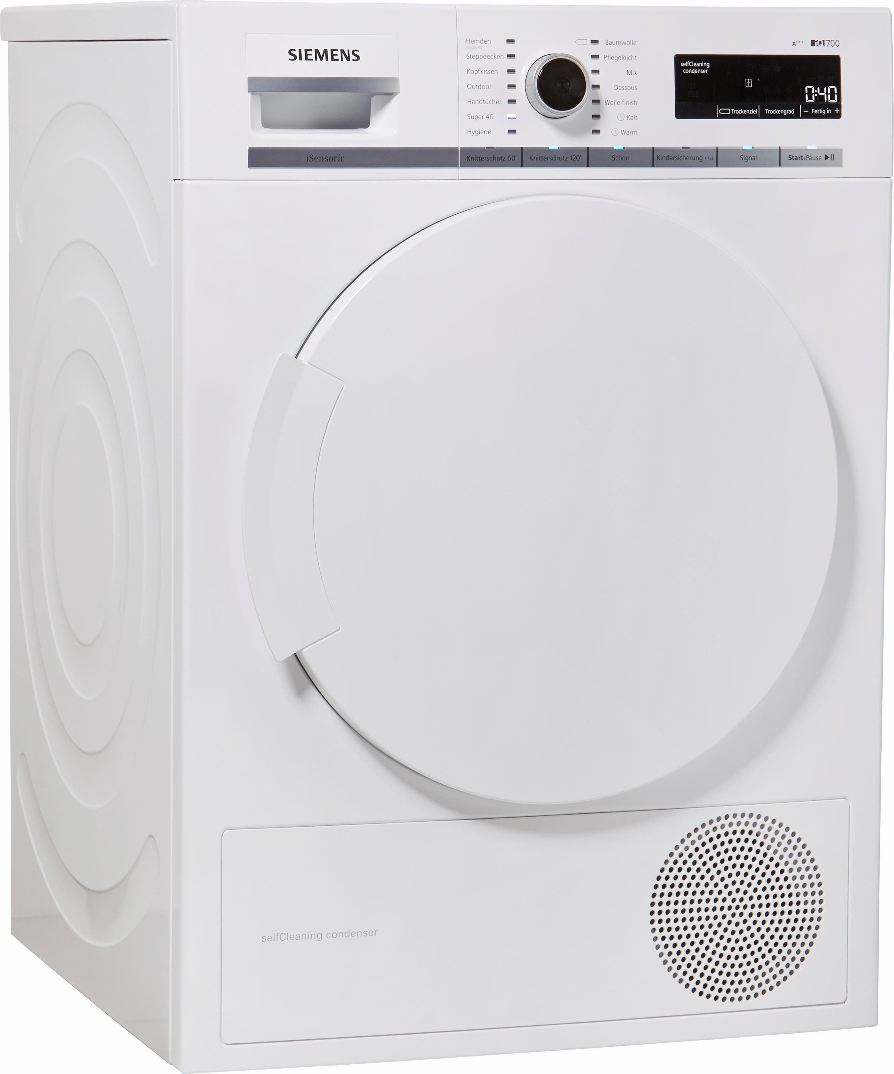 SIEMENS Wärmepumpentrockner iQ700 WT44W5W0, 8 kg