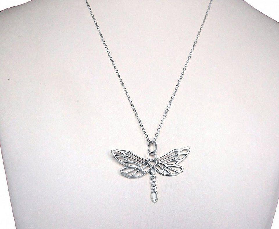 Gemshine Kette mit Anhänger, »Libelle, CliP« in Silber 925