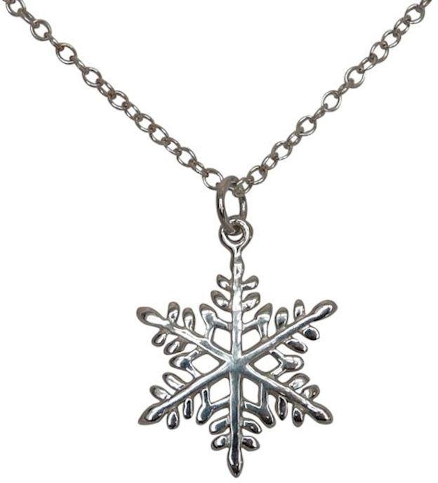 Gemshine Kette mit Anhänger, »Schneeflocke, A1056« in Silber 925
