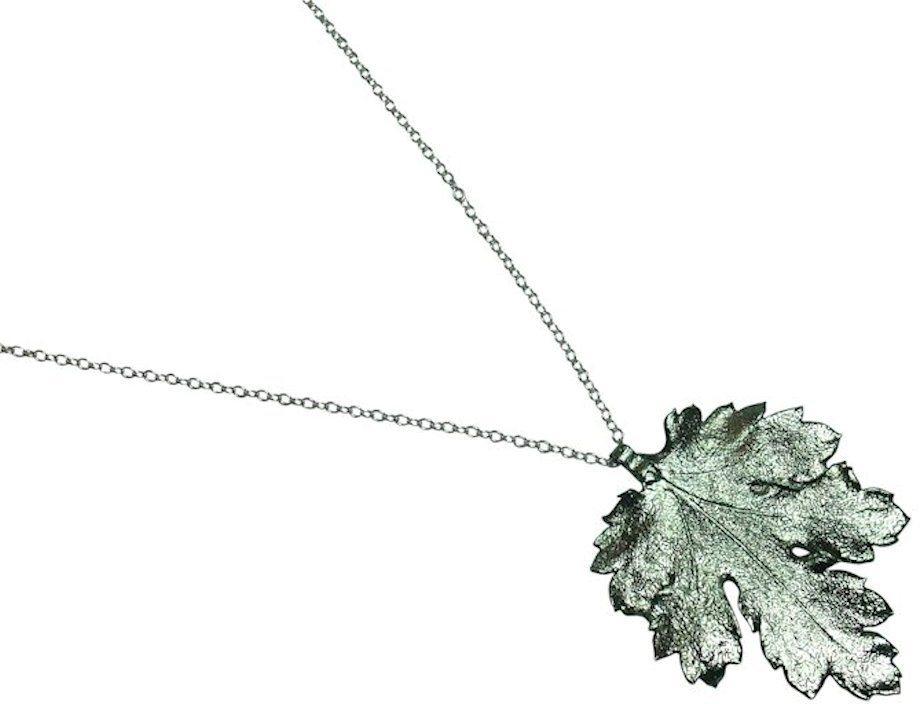 Gemshine Kette mit Anhänger, »Chrysanthemenblatt, WCChryp« in Silber 925