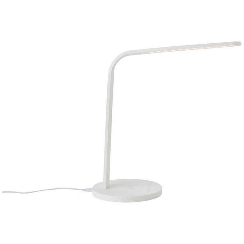 Brilliant Leuchten Tischleuchte »Idelle«, LED mit Induktionsladeschale weiß
